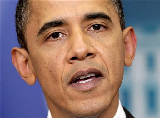 President Barack Obama updates the status of the tax-cut deal struck with congressional Republicans, at the White House in Washington, Monday, Dec. 13, 2010. (AP Photo/J. Scott Applewhite)