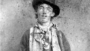 This undated file ferrotype picture provided by the Lincoln County, N.M., Heritage Trust Archive is believed to depict William Bonney, also known as Billy the Kid, circa 1880. (AP Photo/Lincoln County Heritage Trust Archive, File)