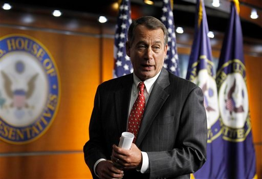In this Dec. 17, 2010, file photo House Speaker-designate John Boehner, R-Ohio, talks with media on Capitol Hill in Washington. (AP Photo/Alex Brandon, File)