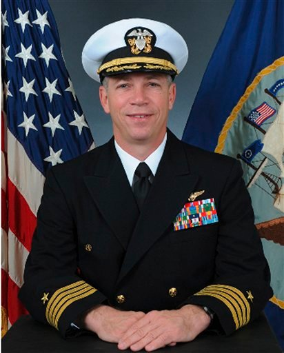 In this undated photo released by the U.S. Navy, Navy Capt. Owen Honors is shown in an official portrait.