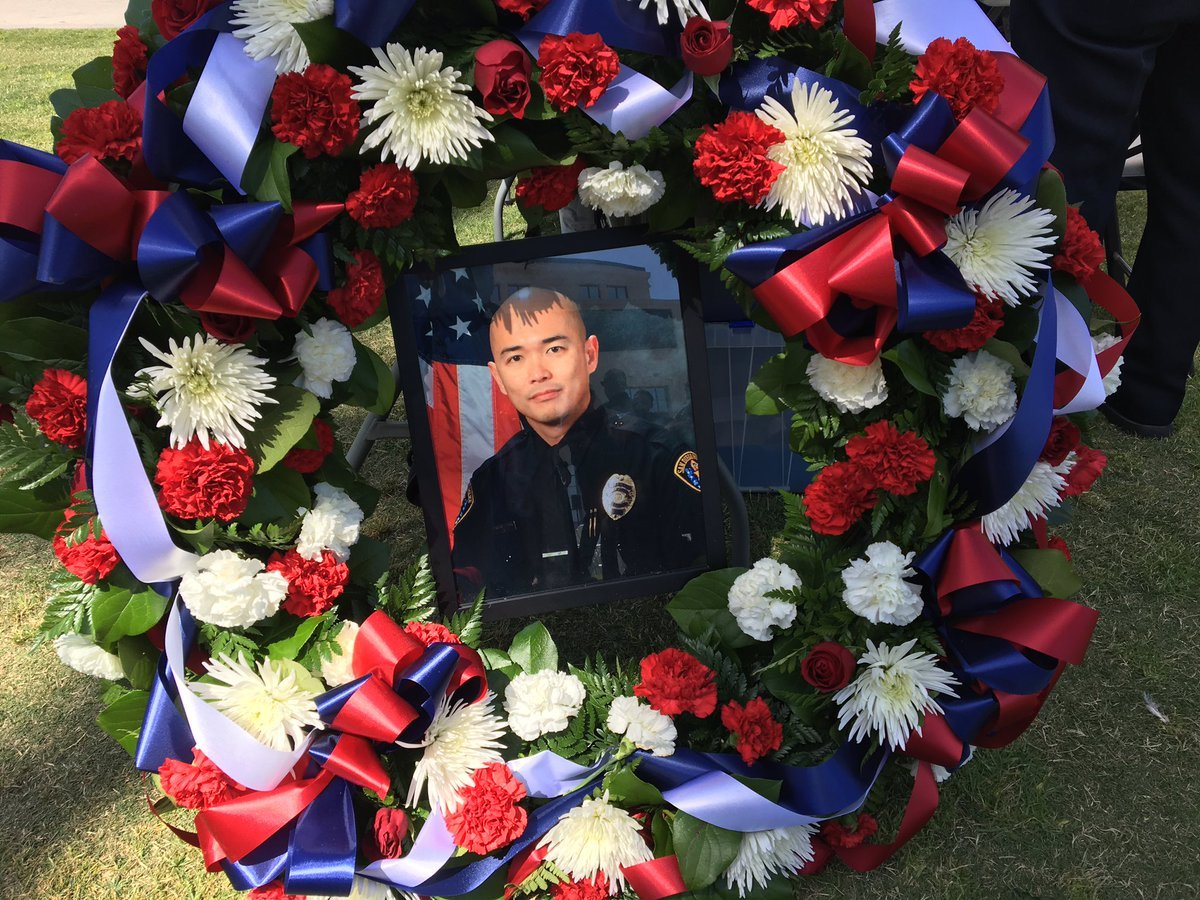 San Diego County 33rd Annual Law Enforcement Memorial Ceremony was held  Wednesday, May 3 and honored, among others, SDPD officer JD DeGuzman, who was killed in line of duty last year.