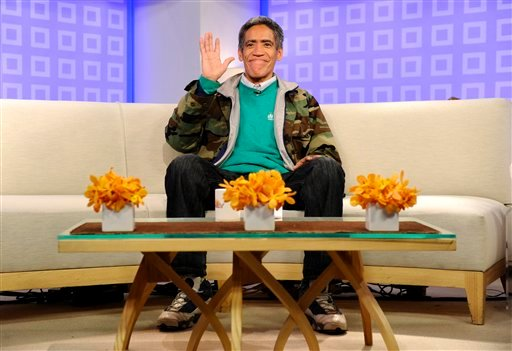 """In this photo provided by NBC Universal, homeless man Ted Williams appears on NBC's """"Today"""" show, in New York, on Thursday, Jan. 6, 2011."""