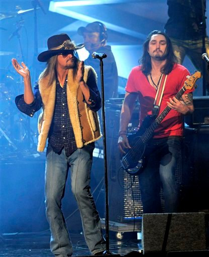 Kid Rock performs at the People's Choice Awards on Wednesday, Jan. 5, 2011, in Los Angeles. (AP Photo/Chris Pizzello)