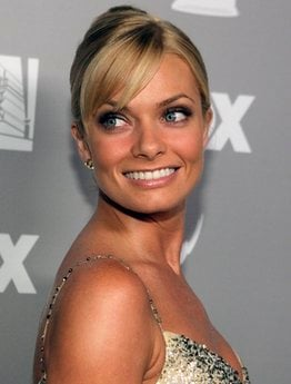 FILE - In this Aug. 27, 2006, file photo, actress Jaime Pressly poses for photographers as she arrives at the post-Emmy party in Beverly Hills, Calif. Santa Monica police say Pressly was arrested, Wednesday, Jan. 5, 2011.