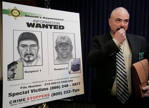 Los Angeles County Sheriff's Special Victims Bureau detective, Ron Anderson speaks during a news conference releasing information on multiple sexual assault suspects, Thursday Jan. 6, 2011 in Los Angeles.