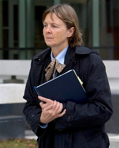 In a Dec. 3, 2007 file photo, attorney Judy Clarke leaves the federal building in downtown Boise, Idaho.
