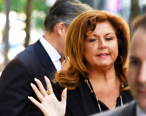 Abby Lee Miller arrives at the Joseph F. Weis Jr. U.S. Courthouse Tuesday, May 9, 2017, in Pittsburgh, for the second day of her sentencing hearing. (Darrell Sapp//Pittsburgh Post-Gazette via AP)