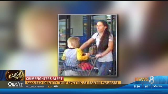 Accused identity thief spotted at Santee Walmart