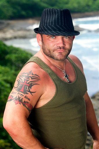 "In this undated publicity image released by CBS, returning ""Survivor"" contestant Russell Hantz is shown in Nicaragua. Hantz will compete in ""Survivor:Redemption Island,"" premiering Wednesday, Feb. 16, 2011 on CBS. (AP Photo/CBS, Monty Brinton) NO SALES"