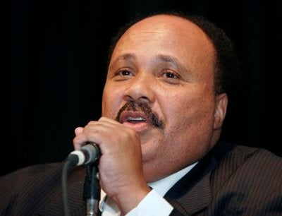 FILE - In this July 31, 2006 file photo, Martin Luther King III speaks at the Southern Christian Leadership Conference, in Dayton, Ohio. The son of Martin Luther King Jr. said Saturday, Jan. 15, 2011.