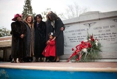 Members of the King family from left, Christine King Farris, sister of Dr. Martin Luther King Jr., Alveda King, niece, Rev. Bernice King, daughter.