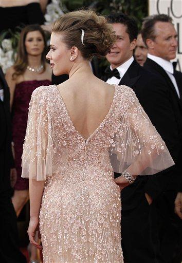 Scarlett Johansson arrives for the Golden Globe Awards Sunday, Jan. 16, 2011, in Beverly Hills, Calif. (AP Photo/Matt Sayles)