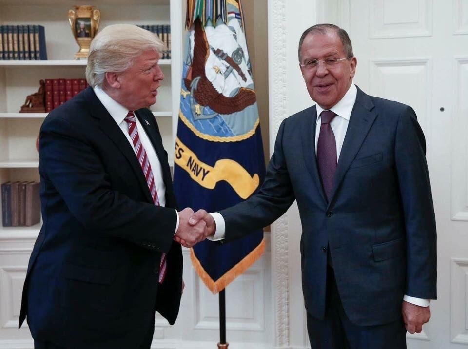 This handout photo released by the Russian Ministry of Foreign Affairs, shows President Donald Trump meeting with Russian Foreign Minister Sergey Lavrov in the Oval Office of the White House in Washington, Wednesday, May 10, 2017. (Russian Foreign Ministr
