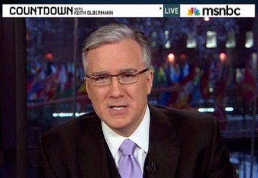 "This frame grab from MSNBC video, shows Keith Olbermann on ""Countdown"" on Jan. 21, 2011.  (AP Photo/MSNBC)"