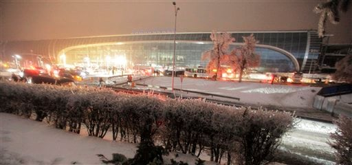 In this Dec. 26, 2010 file photo a general view of the Domodedovo airport is seen in Moscow, Russia. (AP Photo/Pavel Golovkin)