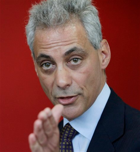 In this Jan. 4, 2011, file photo, Chicago mayoral candidate Rahm Emanuel speaks at a news conference at the Better Boys Foundation in Chicago.