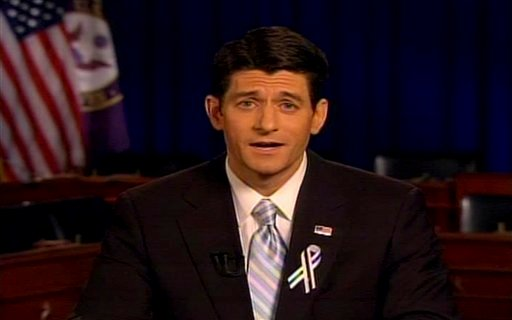 In this screen grab taken from video, Rep. Paul Ryan, R-Wis., delivers the GOP response to President Barack Obama's State of the Union address Tuesday, Jan. 25, 2011. (AP Photo)
