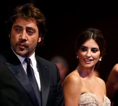 FILE - In this May 23, 2010 file photo, actor Javier Bardem and actress Penelope Cruz arrive during the awards ceremony at the 63rd international film festival, in Cannes, southern France.
