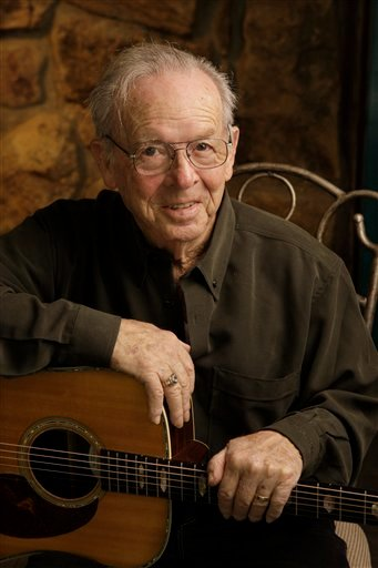 FILE - In a Jan. 29, 2009 file photo, Country Music Hall of Famer Charlie Louvin is shown in his home in Manchester, Tenn.