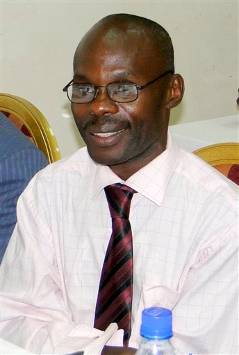 David Kato, seen in this undated photo, an advocacy officer for the gay rights group Sexual Minorities Uganda, was found with serious wounds to his head at his home in Uganda's capital Kampala, late Wednesday Jan 26, 2011, and later died of his injuries.