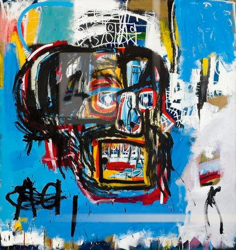"This undated photo provided by Sotheby's shows Jean-Michel Basquiat's Masterpiece ""Untitled."" Sotheby's said the sale of the artwork Thursday, May 18, 2017, in Manhattan was an auction record for the artist. (Sotheby's via AP)"