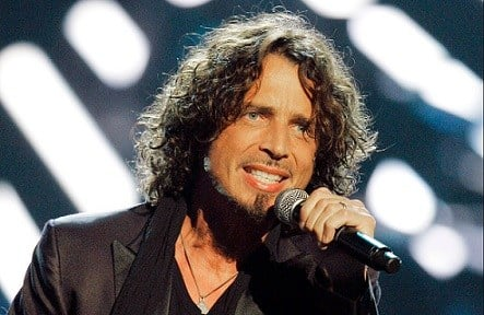 Chris Cornell performs on stage during Conde Nast's Fashion Rocks show in New York.