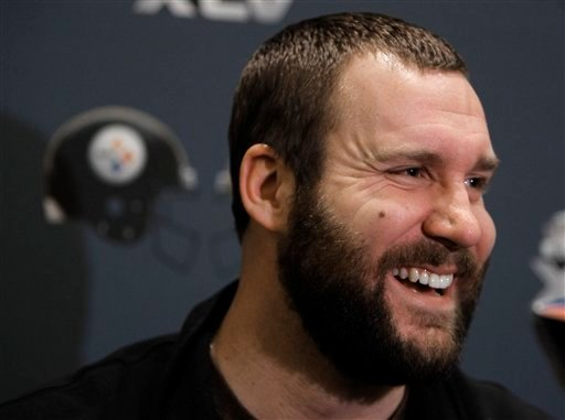 Pittsburgh Steelers quarterback Ben Roethlisberger answers questions during a news conference on Monday, Jan. 31, 2011, in Fort Worth, Texas.