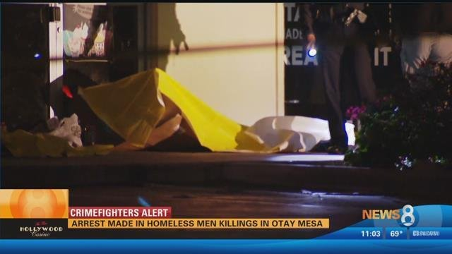 Arrest made in homeless men killings in Otay Mesa