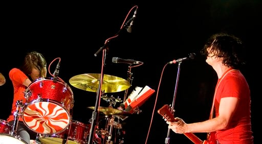 FILE - In this July 24, 2007 file photo, Jack White, right, and Meg White of the White Stripes perform during a concert at Madison Square Garden in New York. (AP Photo/Stephen Chernin, file)