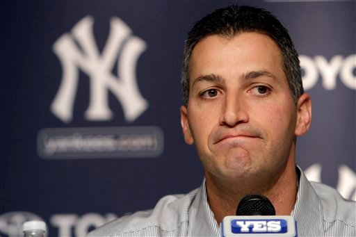 New York Yankees pitcher Andy Pettitte speaks to reporters during a baseball news conference announcing his retirement after 16 years in the majors, on Friday, Feb. 4, 2011 at Yankee Stadium in New York. .(AP Photo/Mary Altaffer)