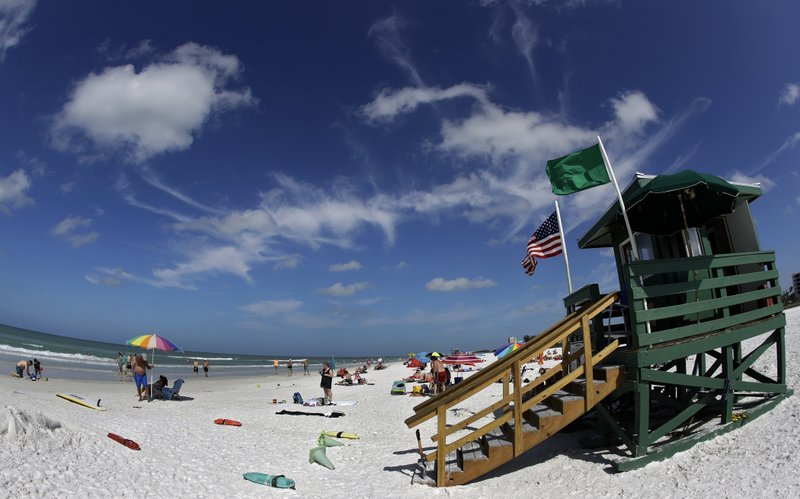 This May 18, 2017 photo shows Siesta Beach on Siesta Key in Sarasota, Fla. Siesta Beach is No. 1 on the list of best beaches for the summer of 2017 compiled by Stephen Leatherman, also known as Dr. Beach, a professor at Florida International University.