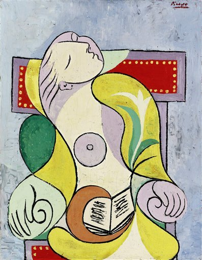 This photo released by Sotheby's, Tuesday Feb. 8 2011, shows the painting La Lecture, by Pablo Picasso.