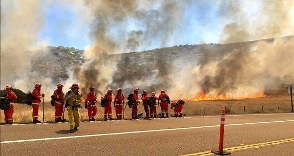 Photo of the Gate Fire. Courtesy of: Cal Fire San Diego