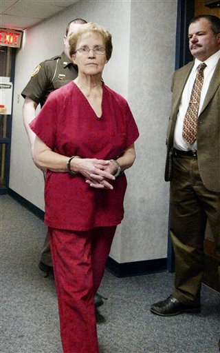 In this Feb. 1, 2011, photo Ruby Klokow, 74, appears in Sheboygan County Circuit Court after being charged with second-degree murder in the 1957 death of her infant daughter, after her son recently came forward to police with stories of horrific abuse.