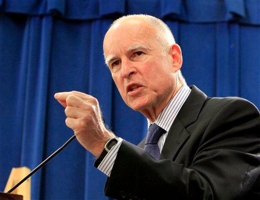 Gov. Jerry Brown announced that he is dropping a plan by former Gov. Arnold Schwarzengger to sell 24 state govenement buildings to private investors, during a Capitol news conference, in Sacramento, Calif., Wednesday, Feb. 9, 2011.