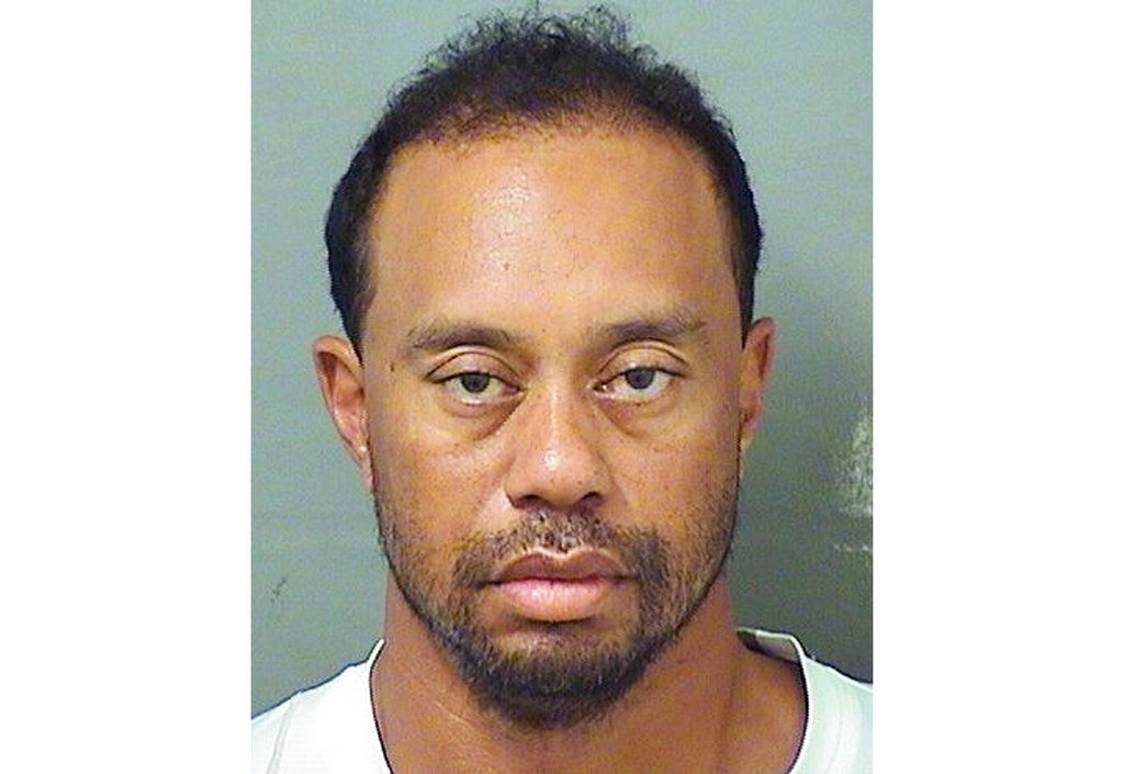 This image provided by the Palm Beach County Sheriff's Office on Monday, May 29, 2017, shows Tiger Woods. (Palm Beach County Sheriff's office via AP)