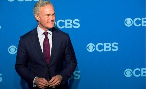 Scott Pelley attends the CBS Upfront in New York.