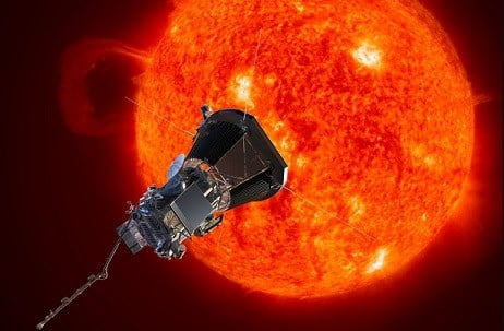 NASA's Solar Probe Plus spacecraft approaching the sun.