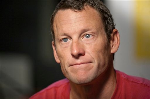 Lance Armstrong speaks during an interview in Austin, Texas, Tuesday, Feb. 15, 2011. (AP Photo/Thao Nguyen)