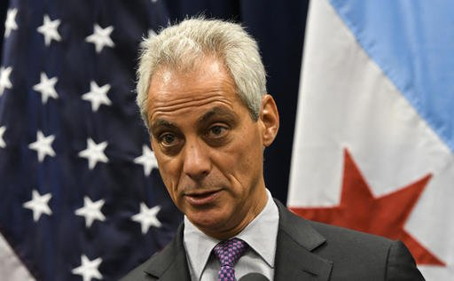 Chicago Mayor Rahm Emanuel Wednesday, Jan. 25, 2017, in Chicago. (AP Photo/Matt Marton)
