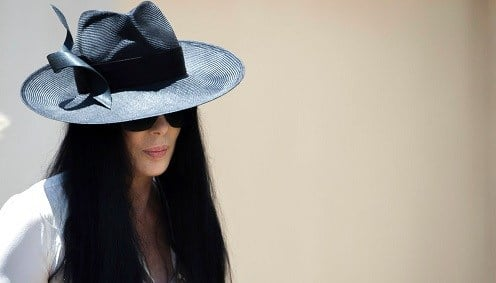 Cher arrives for the funeral of Gregg Allman, Saturday, June 3, 2017, in Macon, Ga.