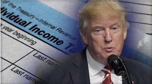 Trump files extension for 2016 taxes