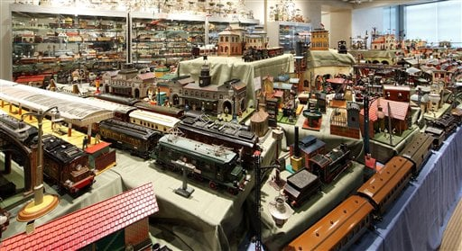 The collection was assembled piece by piece since the 1960's, and includes toys from as far back as 1850.