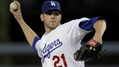 Jon Garland is back in blue; Dodger blue. (AP)
