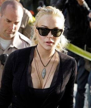 Lindsay Lohan arrives at Los Angeles Superior Court, Wednesday, Feb. 23, 2011