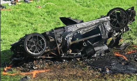 This photo issued by Freuds shows the car that was involved in a crash where Richard Hammond escaped serious injury.