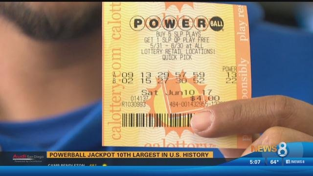 Winning Powerball ticket worth $447M sold in small Southern California city