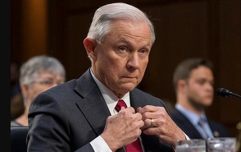 Attorney General Jeff Sessions testifies on Capitol Hill in Washington, Tuesday, June 13, 2017.
