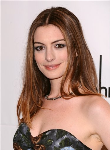 FILE - In this Nov. 29, 2010 file photo, Anne Hathaway attends the 20th anniversary of The Gotham Independent Film awards in New York.
