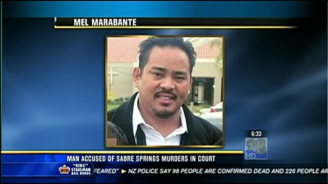 Melchor Fonseca Marabante, 41, was ordered held without bail in the deaths last Sunday of his 23-year-old wife Valerie and her colleague and friend, 26-year-old Bernabe Villamar.